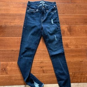 Good American jeans with distress Sz 0/25